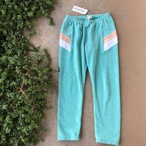 Wildfox Blue Sport Knox Soft Sweat Pants